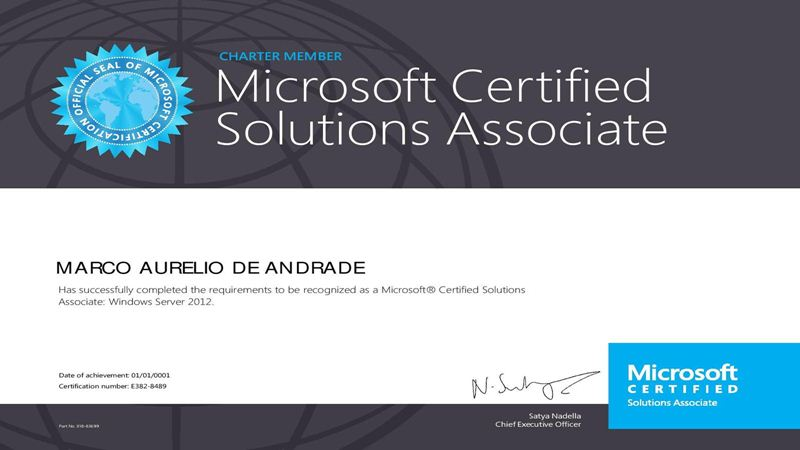 certificação windows server 2012