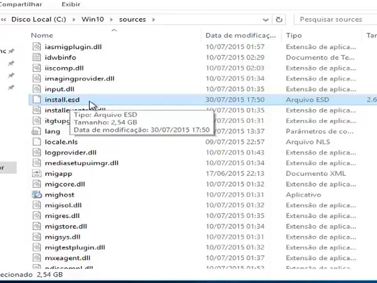 como converter install.esd para install.wim