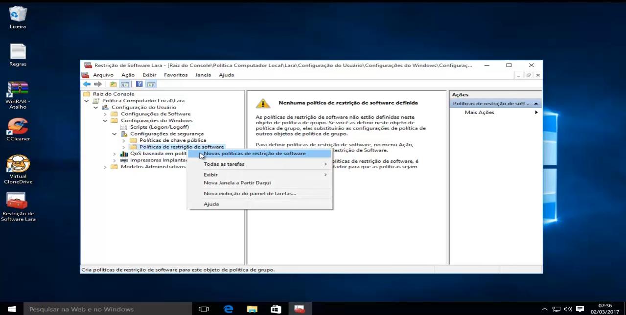 bloquear software no windows