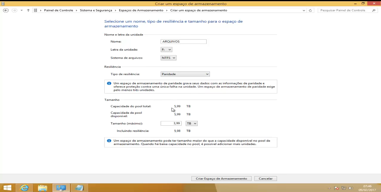 configurar raid 5 no windows 10