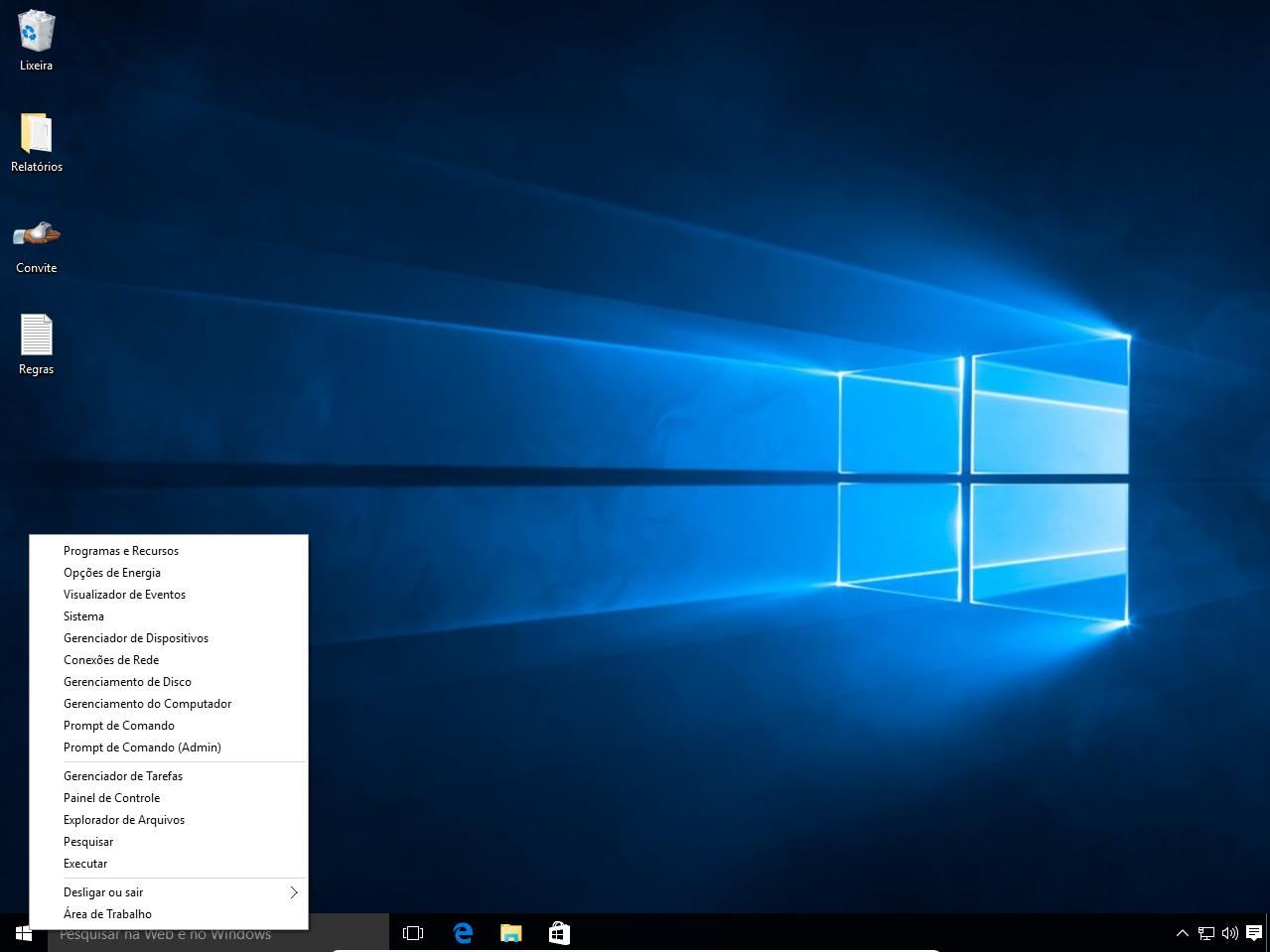 centra de rede e compartilhamento no windows