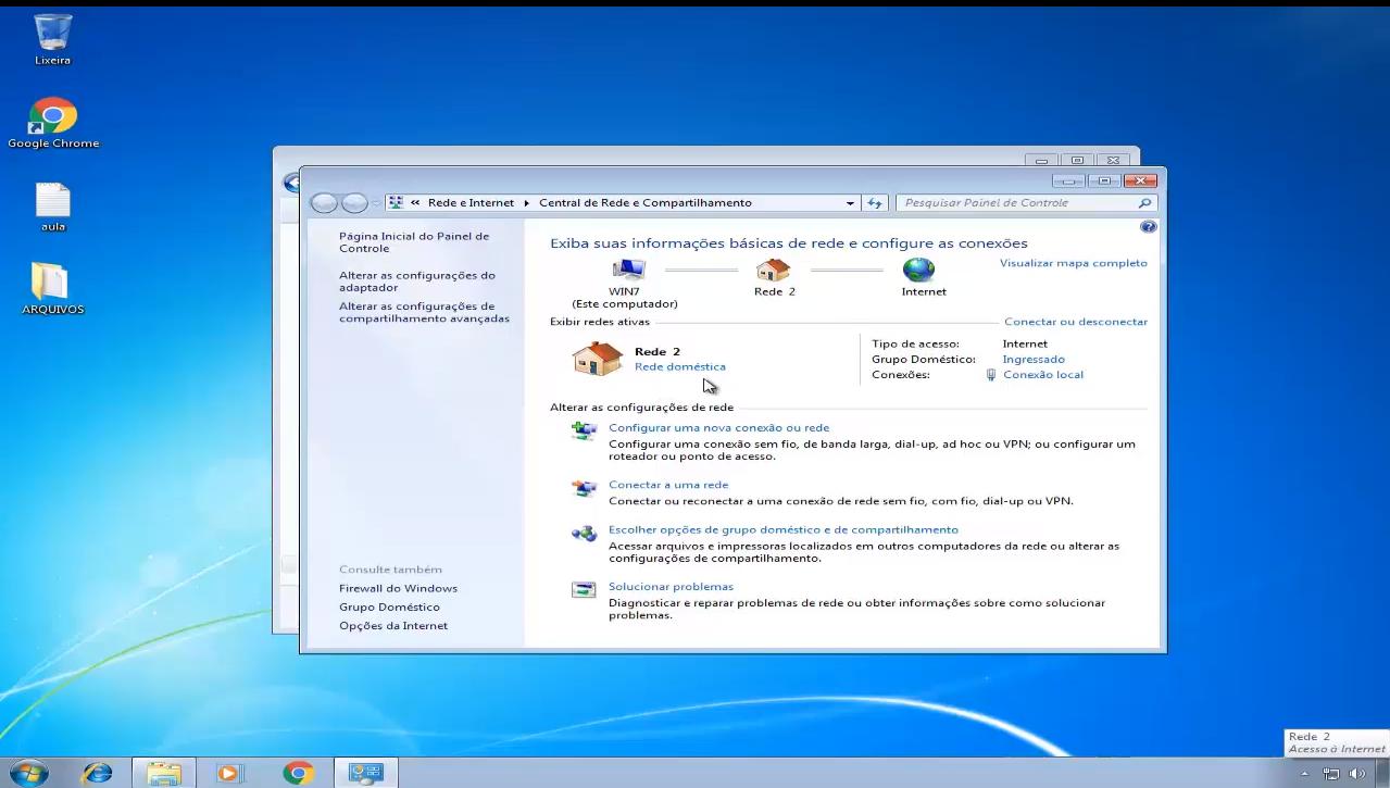 compartilhar pasta entre windows 7 e windows 10