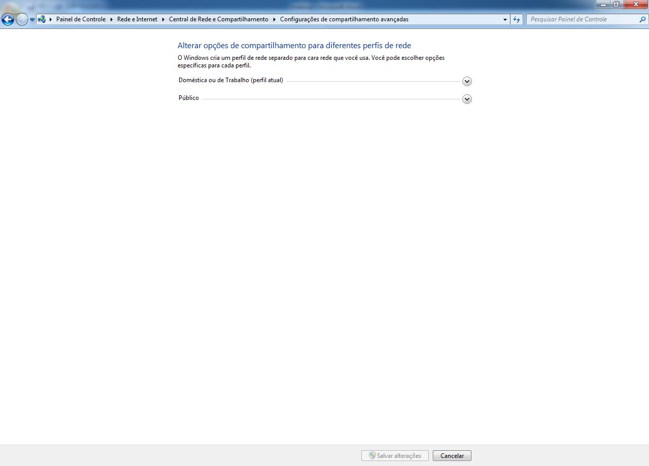 configurações de rede avançadas no windows 7